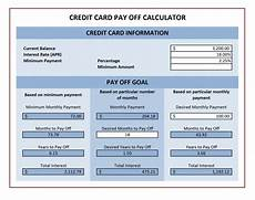 Pay Off Credit Cards Calculator Credit Card Payoff Calculator Excel Templates