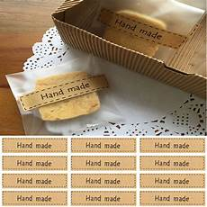 Label Paper Utility Lots 80pc Quot Hand Made Quot Self Adhesive Stickers Kraft