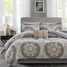 beautiful modern chic tropical bed in bag taupe