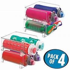 mdesign stackable water bottle storage rack for kitchen