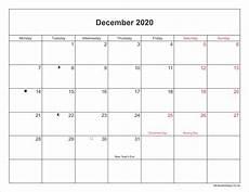 Calendar January December 2020 December 2020 Calendar Printable With Bank Holidays Uk