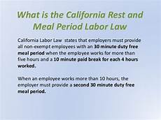 California Meal Break Law Chart What Small Businesses Should Know About Meal Break Waivers