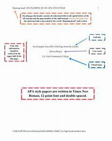 Title Page Apa Format Example Apa Formatting 6th Ed Citation Guide Central