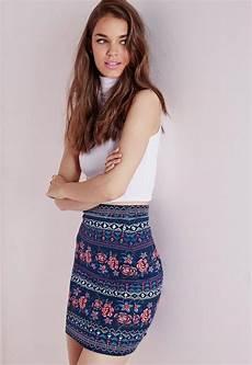 Aztec Design Skirts Aztec Print Jersey Mini Skirt Missguided