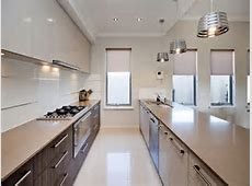 Corridor style kitchen photos