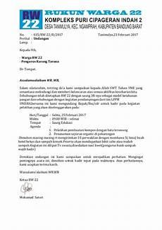 contoh surat undangan rt suratmenyurat net