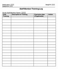 Staff Training Record Template Free Free 8 Training Log Templates In Pdf Ms Word