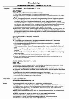 Customer Relationship Executive Resume Customer Relationship Resume Relationship Manager Resumes
