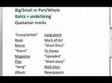 Punctuation Of Titles How Do I Punctuate Titles Youtube