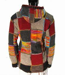 patchwork jacket 1 wool 100 fleece lined patchwork knit jacket hippy
