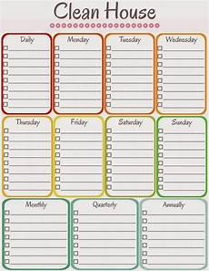 Printable Cleaning Schedule Template Amy S Notebook 5 Printable Cleaning Schedules