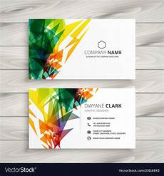 Colorful Business Cards Business Card Design With Abstract Colorful Shapes