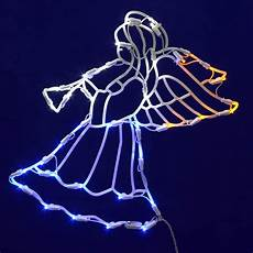 Led Christmas Window Lights 17 Quot Lighted Led Angel With Horn Christmas Window
