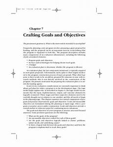 Goals And Objectives For Work Social Work Crafting Goals And Objectives