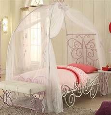 butterfly princess carriage canopy bed in white