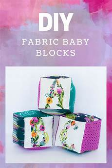 fabric baby blocks tutorial projects