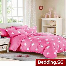 pink bedsheets bed sheet set footprint design pink