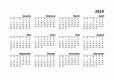 Free Printable Yearly Calendar Templates 2015 2015 Yearly Calendar Template 10 Free Printable Templates