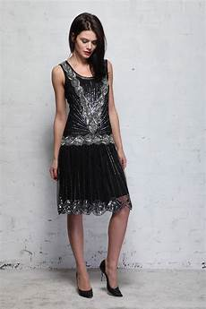 Frock And Frill Size Chart Frock And Frill Zelda Flapper Dress Black Sequined 1920s