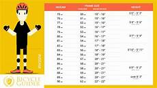 Bike Size Chart By Height Bike Size Chart How To Choose Right Bicycle 7 Methods