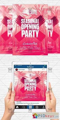Party Flyer Size Season Opening Party Flyer Template Instagram Size