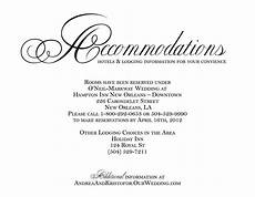 How To Word Hotel Accommodations For Wedding Invitations Hotel Accommodation Cards Google Search Wedding