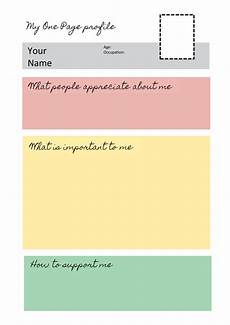 Profile Templates One Page Profile Templates Helen Sanderson Associates