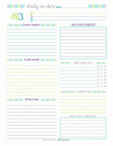 Daily To Do Checklist Day 27 To Do List Printables Scattered Squirrel