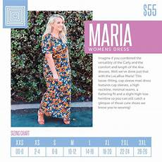Marina Dress Size Chart Women S Lularoe Dress Size Chart Including 2018