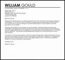 Board Resignation Letter Sample School Board Resignation Letter Resignation Letters