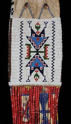 beadwork sioux 635 sioux beaded pipe bag ca 1880 with geometric