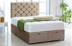 ottoman storage divan base and headboard in plush