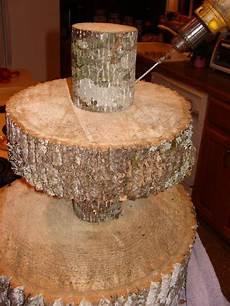 diy tree cupcake stand food presentation rustic