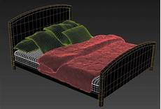 Sofa Mattress 3d Image by Simple Wooden Bed Design With Mattress 3d Max File Cadbull