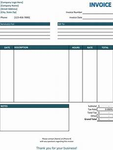 Simple Free Invoice Template Word Service Invoice Templates 10 Free Word Excel Amp Pdf Samples