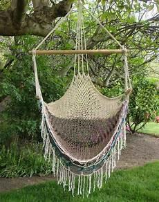 macrame swing vintage macrame hammock swing chair 1970s by jbhoffman on