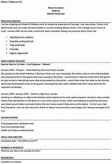 Cv For A Waitress Modern Design Waitress Resume Example Server Resume