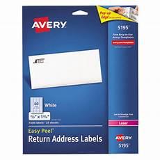 Avery 5195 Labels Avery 5195 Easy Peel 2 3 Quot X 1 3 4 Quot Printable Return