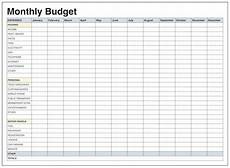 Blank Excel Sheet Download Blank Monthly Budget Template Pdf Monthly Budget Excel