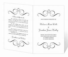 Wedding Ceremony Program Template Free Wedding Program Template Printable Instant Download