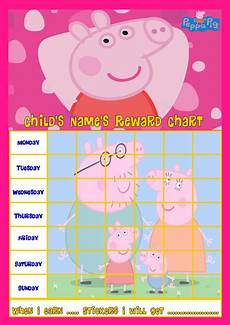 Peppa Pig Sticker Reward Chart Peppa Pig Personalised Reward Chart With Free Stickers And