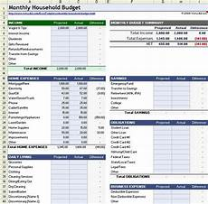 Household Expense Spreadsheet Template Free Download A Free Household Budget Worksheet For Excel