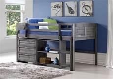 harriet bee evan low loft bed with storage reviews