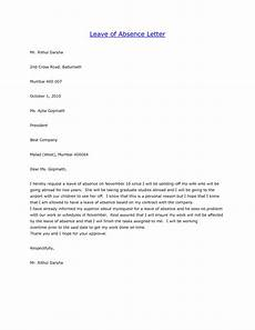 Letter Of Absence Leave Of Absence Letter Free Printable Documents
