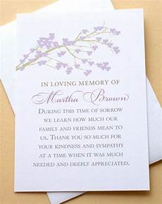 Condolences Thank Yous Sympathy Thank You Cards With A Branch Of Purple By