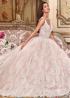 magbridal alluring tulle lace v neck neckline gown