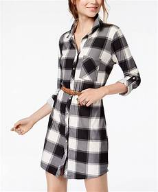 sleeve dress shirts braided no comment juniors belted printed shirtdress a