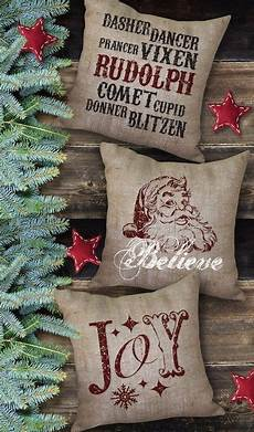 2014 letters and santa burlap pillows for