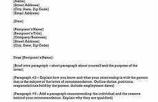 Letter Or Recommendation Template Recommendation Letter Template Letter Of Recommendation