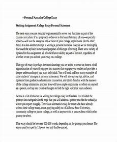 Examples Of A Narrative Essay Free 30 College Essay Examples Amp Samples In Pdf Examples